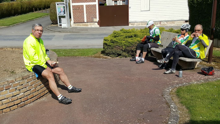 Pause casse-croûte à Villers-Vicomte