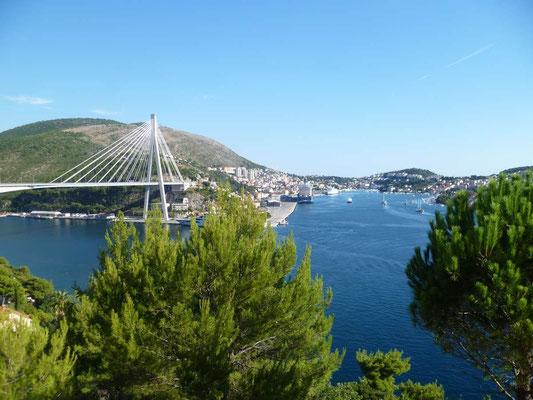 Dubrovnik et le pont inauguré en 2002