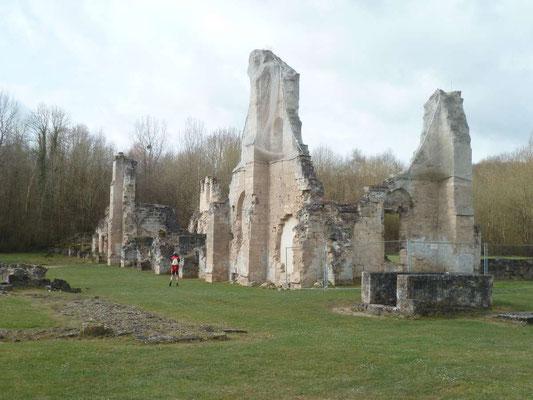 Ce qui reste de l'Abbaye de Vauclair
