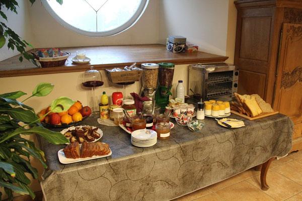 Le buffet du matin