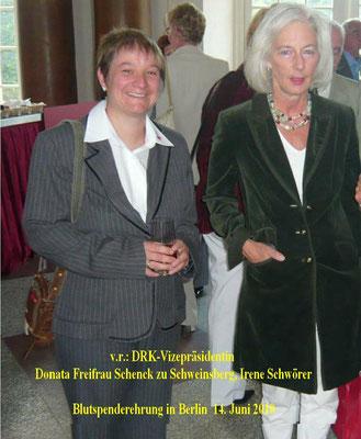Irene Schwörer freut sich über die Blutspende Ehrung in Berlin
