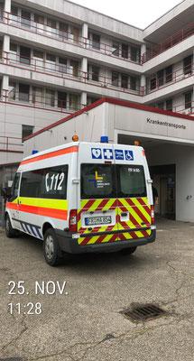 Mit dem KTW im Krankenhaus