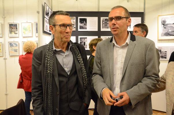 M. Preud'homme, proviseur du lycée Voltaire et M. Trinssoutrop, Président de l'AALVP