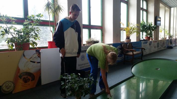 Sabine beim Training mit Luca