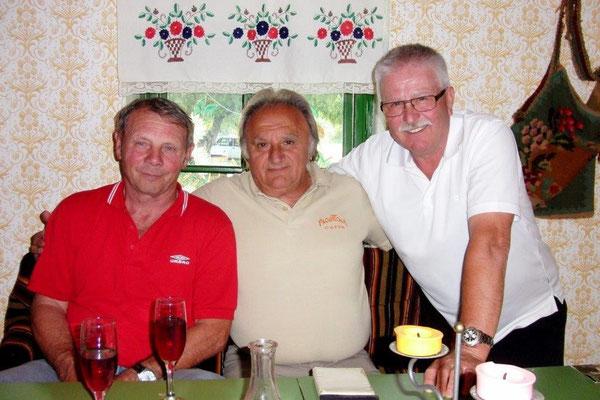 R. Lawall, Nicola Belic und Helmut Demler