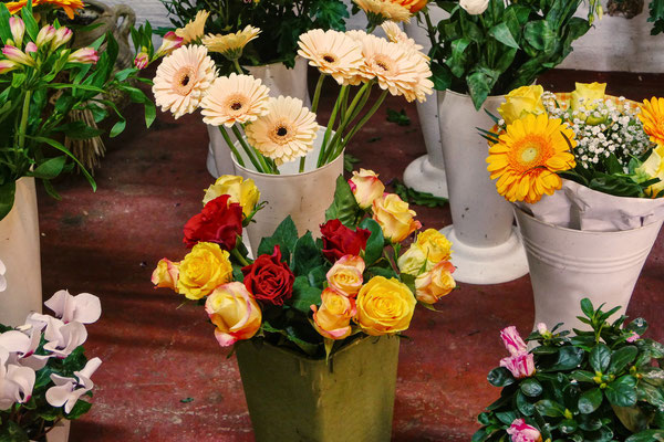 Blumen-Rose | Gestecke, Gebinde, Grabschmuck, Grabdecken