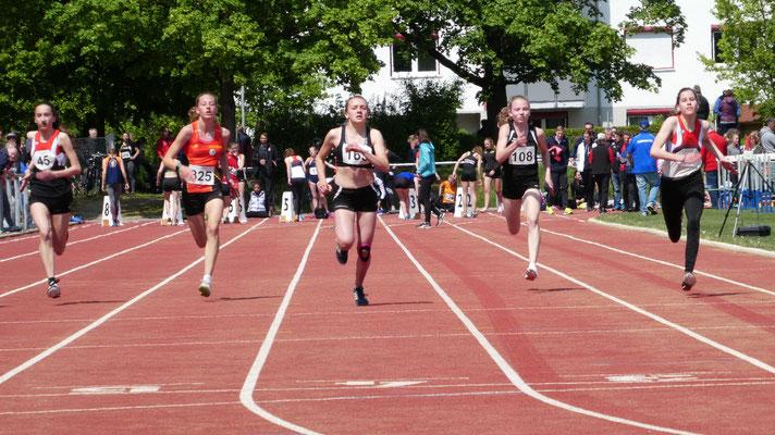 Lucia im Endspurt über 100m