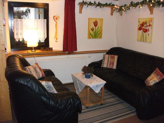 Wohnbereich mit Kabel-TV, DVD-Player, CD-Player, Radio, kostenloses WiFi