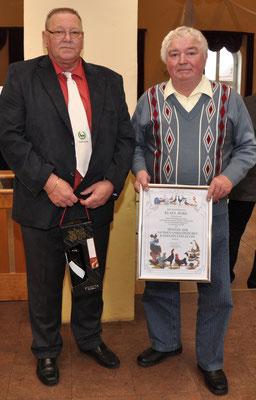 Vorsitzender der Gruppe Nord Wolfgang Bohne und Zuchtfreund Klaus Jeske