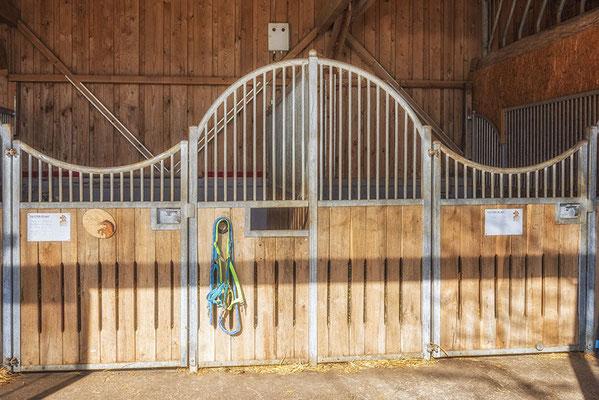 Exklusive Pferdebox in besonderem Stall des Reiterhofs in Steinhöring
