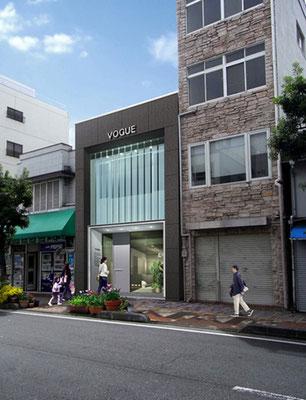 岡山市に建設の美容院建設の写真合成(昼景)