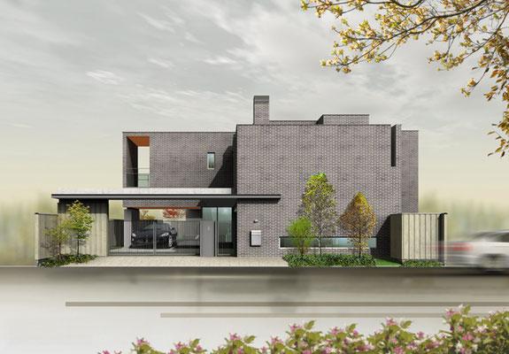 岡山に建設の住宅