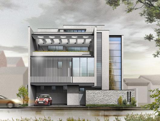 香川県に建設の住宅