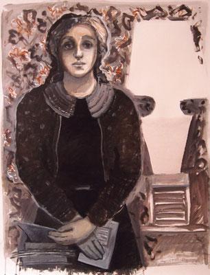 Sentinelle - 120 x 80 - Gouache/acrylique sur papier
