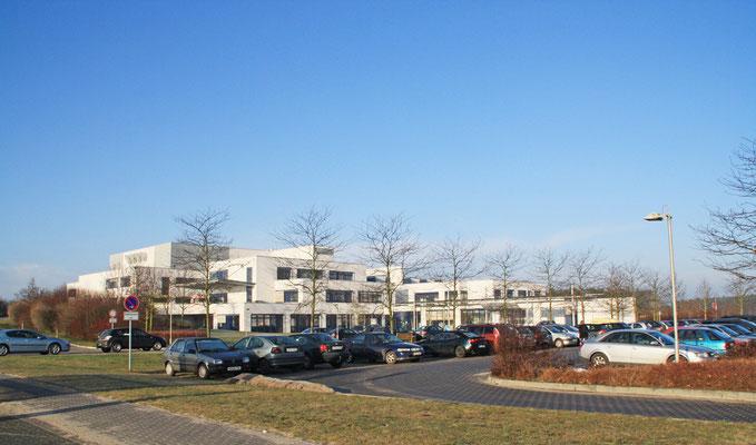 Krankenhaus-Neubau in der Alten Prettiner Straße.