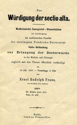 Dissertation Dr. Franz'