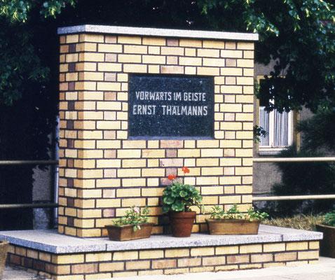 Ernst-Thälmann-Denkmal (1983 bis 2009) an der Schanze