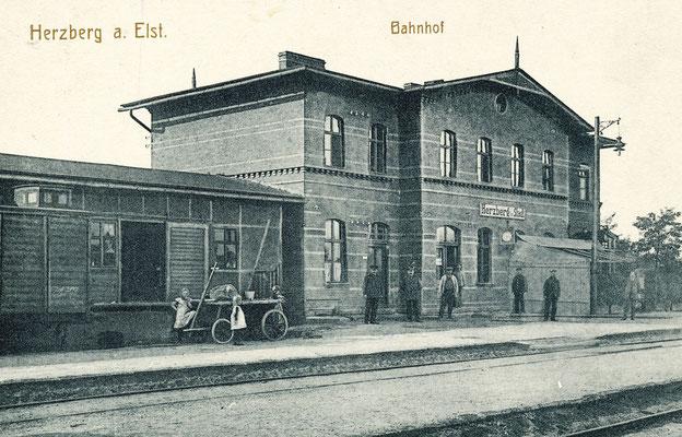 Stadtbahnhof in Herzberg zu Beginn des 20. Jahrhunderts