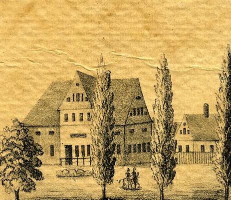 """Gasthof """"Zum heiter'n Blick"""", ebenso eine wichtige Adresse für Fernreisende."""