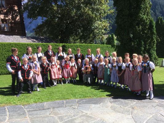Chinderchörlitreffen in Grindelwald im September 2018