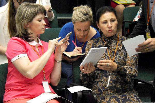 Рабочий момент на установочном семинаре конкурса