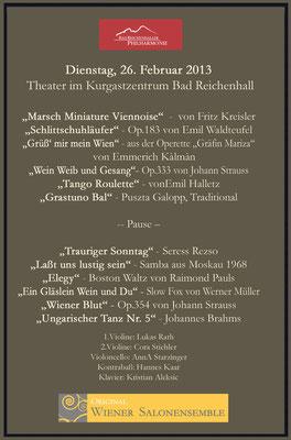 Programm von Bad Reichenhall, Februar/März 2013