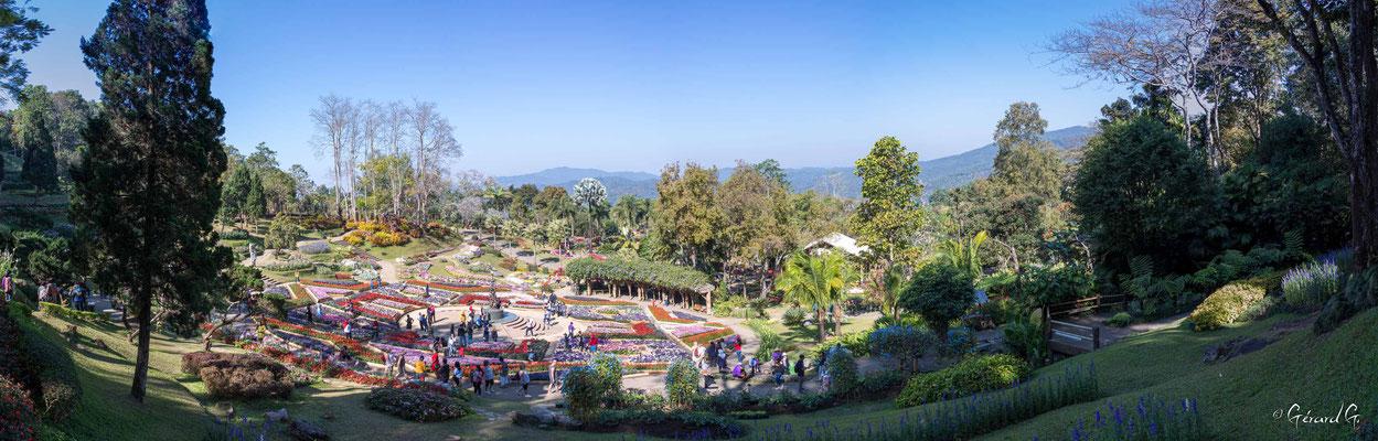 2019  02 - Doi Tung, Jardin botanique Mae Fah Luang   -L10A6627-Panorama