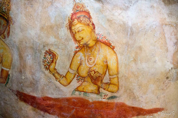 Les Demoiselles de Sigiriya (5ème siècle)