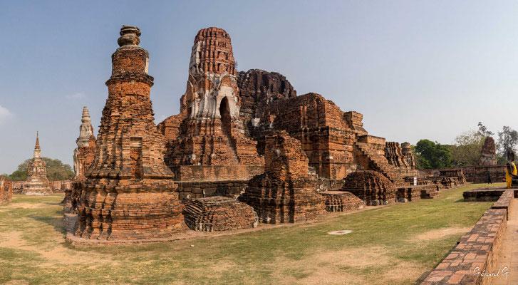 2019  02 - Ayutthaya , Wat Mahathat  -L10A5722-Panorama