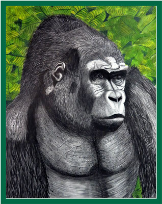 Goriller/ 64x50 cm Acryl/Graphit auf Papierkarton Preis 499 €