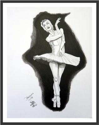 Prima Ballerina 1 Graphit auf Karton 64 x 50 cm € 350
