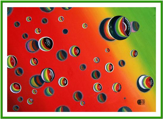Weltall/50x70 cm Acryl auf Hartfaserplatte Preis 180 €