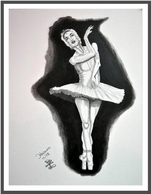 Prima Ballerina/ 64x50 cm Graphit auf Papierkarton Preis 180 €