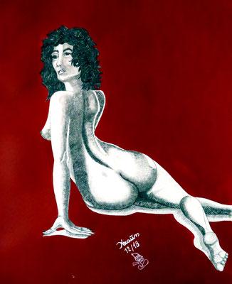 Erotische Momente Graphit/Acryl 64 x 50 cm € 450