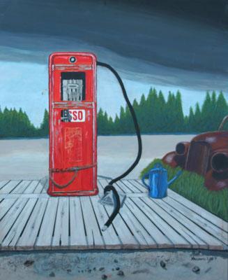 Tankstelle in Arizona/ 70x50 cm Acryl auf Hartfaserplatte Preis 350 €