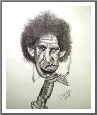 Keith Richards/ 60x50 cm Graphit auf Papier Preis 100€