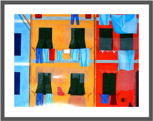 Häuserfront in Italien/60x80 cm Acryl auf Hartfaserplatte Preis 90 €