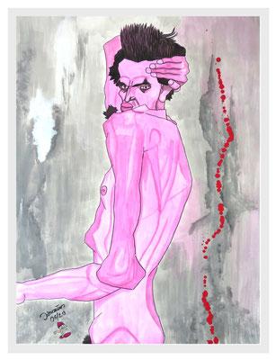 Schiele Imitation/82x62 cm Acryl auf Papierkarton Preis 299 €
