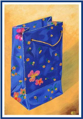 Einkaufssackerl/ 100x70 cm Acryl auf Hartfaserrplatte Preis 180 €