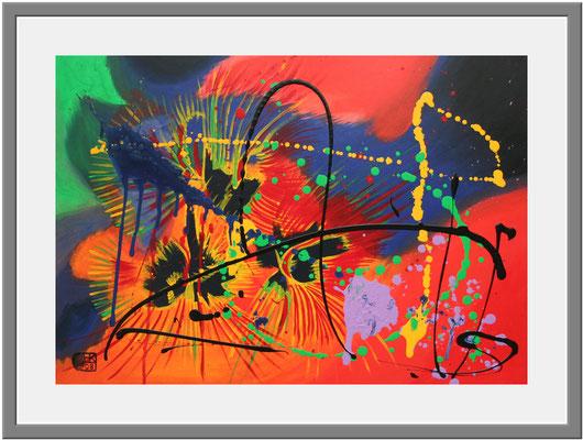 Abstrakt/50x70 cm Acryl auf Hartfaserplatte Preis 180 €