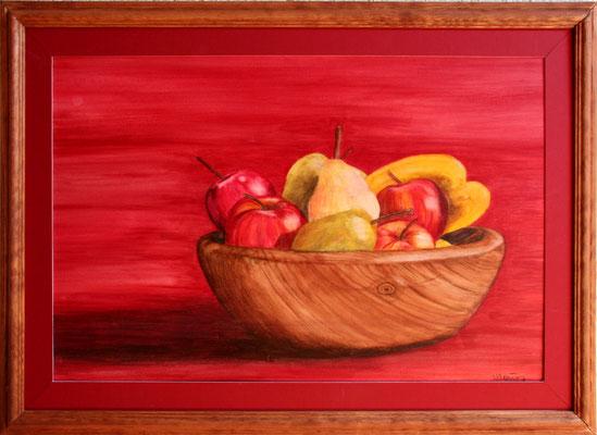 Obstschüssel/50x70 cm Acryl auf Hartfaserplatte Preis 180 €