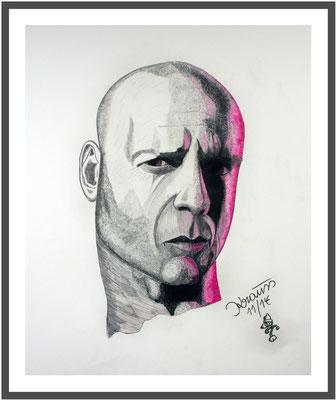 Bruce Willis/50x40 cm Graphit auf Papier Preis 100 €