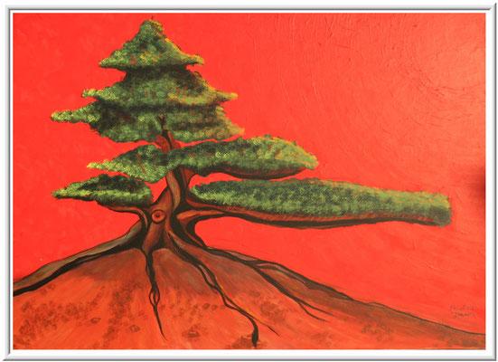 Bonsai/50x70 cm Acryl auf Hartfaserplatte Preis 180 €