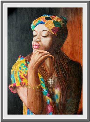 Schwarze Madonna/70x50 cm Acryl auf Hartfaserplatte Preis 699€