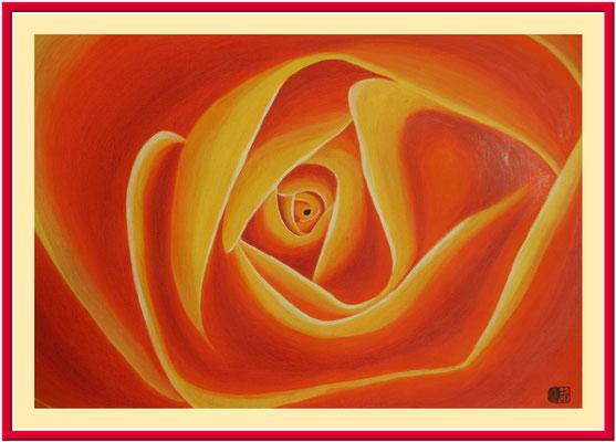 Rose/100x70 cm Acryl auf Hartfaserplatte Preis 180 €
