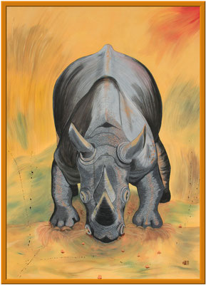 Nashorn/180x130 cm Acryl auf Hartfaserplatte Preis 599 €