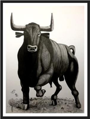 Stier/ 110x82 cm Graphit auf Kartonpaper Preis 599 €