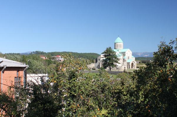Blick auf die Bagrati-Kathedrale von Sankt Giorgi aus