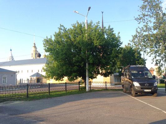 Parkplatz in Kolomna direkt am Kreml (2015)