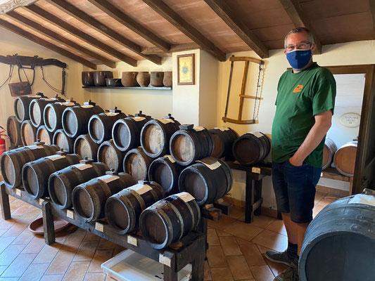 Besuch der Acetaia Leonardi - das sind die Aceto Balsamico in Wacholder-Fässern